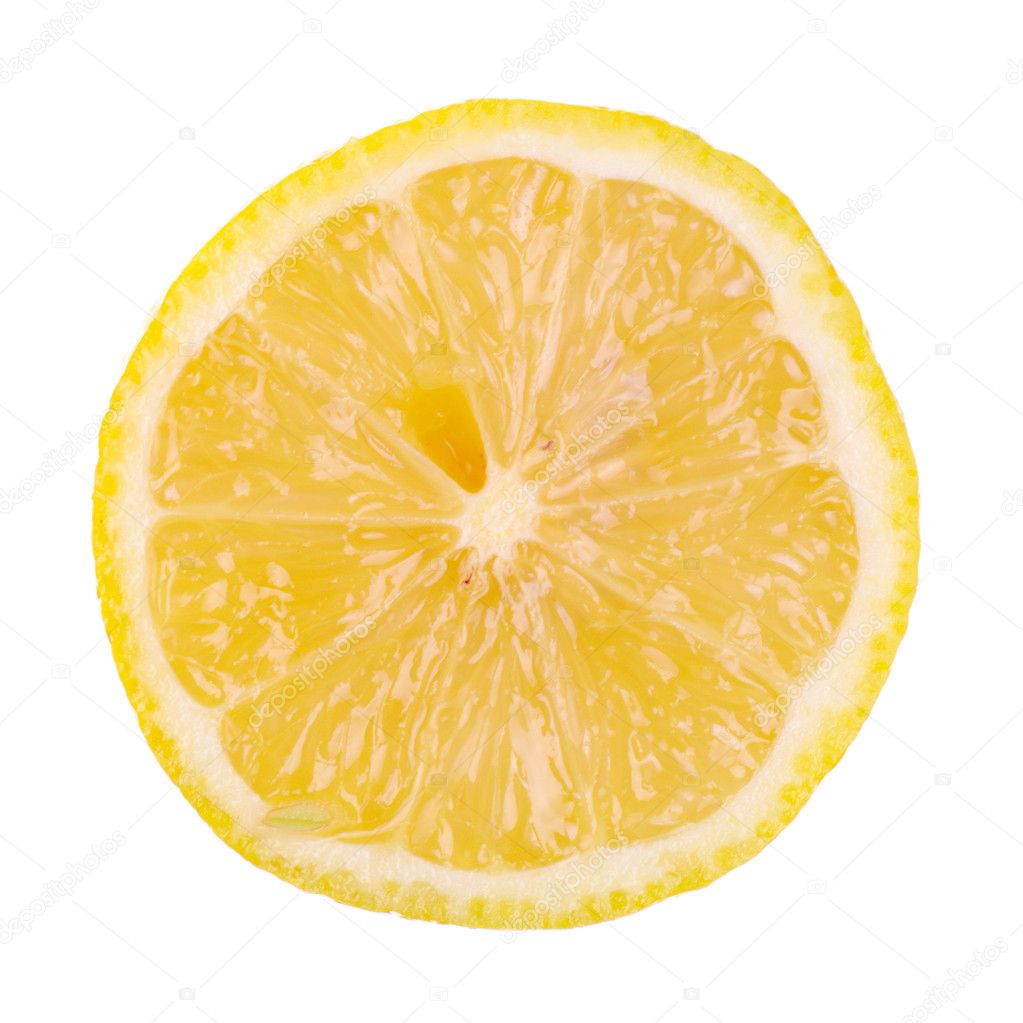 Half of lemon isolated — Stock Photo #2076268