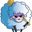 Malicious Sheep — Stock Photo