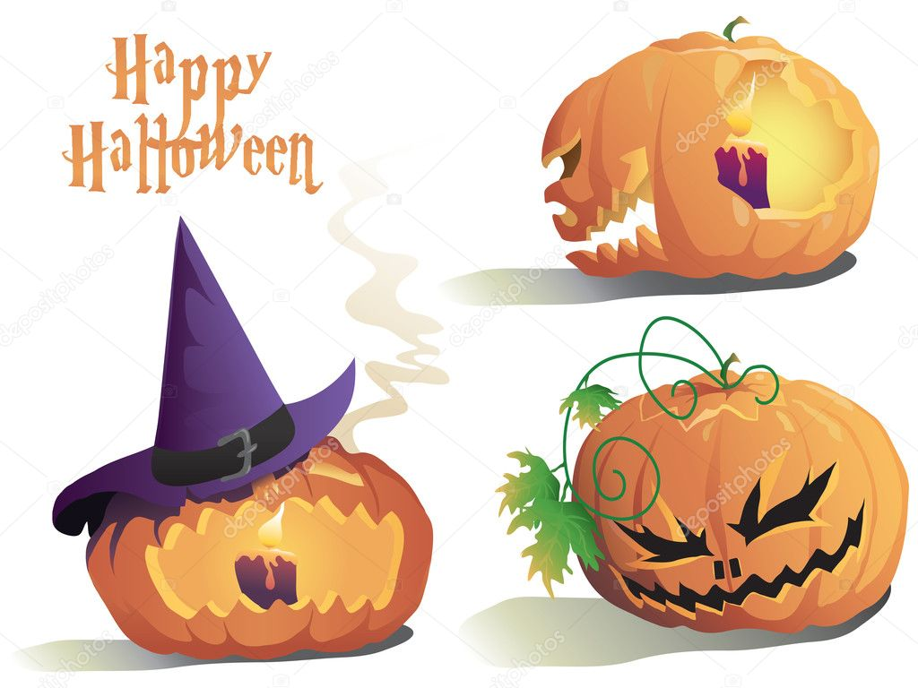 Pumpkin on the white background. Vector illustration — Stock Photo #1618198