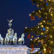 Berlin brandenburg gate christmas - Stock Photo