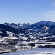 Bavarian alps in winter - Stock Photo
