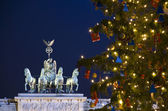 Berlin brandenburg gate christmas — Stock Photo
