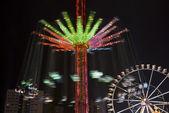 Carousel in amusement park — Stock Photo