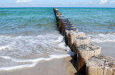 Groynes baltic sea — Stock Photo