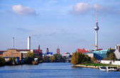 Berlin skyline tv-tower — Stock Photo