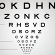 Eye chart - Stock Photo