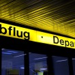 Abflug departures — Stock Photo