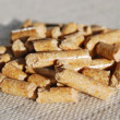 Woodpellets — Stock Photo