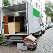 Stock Photo: Moving house van
