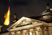 Berlin reichstag night — Stock Photo