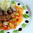Stock Photo: Beef and cous cous salad