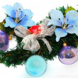 Christmas flower decoration — Stock Photo