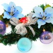Stock Photo: Christmas flower decoration