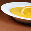 Carrot and orange soup — Stock Photo