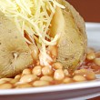 jacket potatoe — Stock Photo