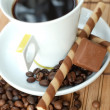 Foto Stock: Cup of black coffe