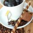 Cup of black coffe - Stock Photo