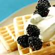 Royalty-Free Stock Photo: Waffles with fruits
