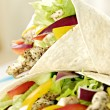 Chicken salad wraps - Stock Photo