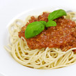 Stock Photo: Spaghetti bolognaise