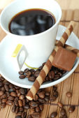 Cup of black coffe — Stock Photo