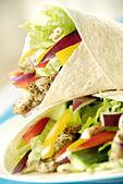 Chicken salad wraps — Stock Photo