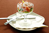 Prawn cocktail — Stock Photo