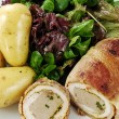 Stock Photo: Chicken ballotine meal