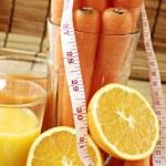 Carrot and orange juice — Stock Photo