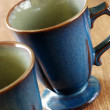 Foto Stock: Blue mugs