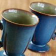Blue mugs — Stock Photo