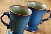 Blue mugs — Stock Photo