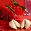 Valentine fortune cookie - Lizenzfreies Foto