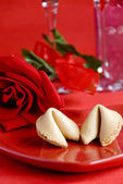 Valentine fortune cookie — Stock Photo