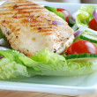 Grilled chicken fillet - Stockfoto