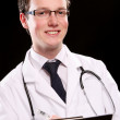 Young and attractive medical student — Stock Photo