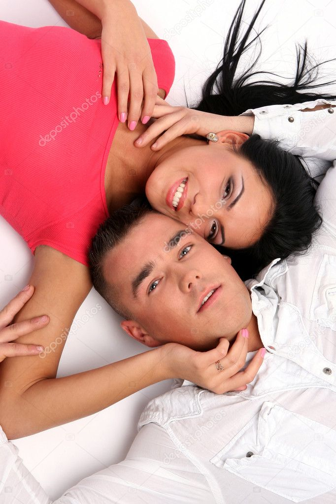 Young and attractive happy couple — Stock Photo #1857938