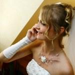 Beautiful adult woman on wedding — Stock Photo