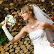 Beautiful adult woman on wedding -  