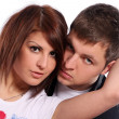 Young and attractive happy couple — Stock Photo
