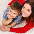 Stock Photo: Young mother with five years son