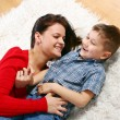 Young mother with five years son — Stock Photo #2327427