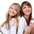 Group of two beautiful sisters — Stock Photo