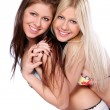 Stock Photo: Group of two beautiful sisters