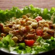 Fresh green salad with chicken - Stock Photo