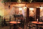 Retro restoran iç ağaçları ile — Stok fotoğraf