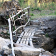 Stock Photo: Dilapidated bridge