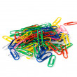 Stock Photo: Multicoloured clips.