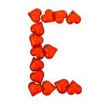 Alphabet Valentine's Day. Letter E. — Stock Photo