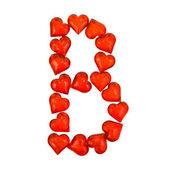Alphabet Valentine's Day. Letter B. — Stock Photo